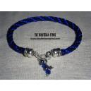 Kumihimo pulsera azul y negra