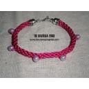 Kumihimo pulsera rosa