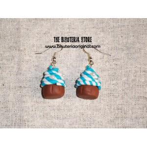Cupcake azul y blanco