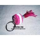 Llavero macaron rosa