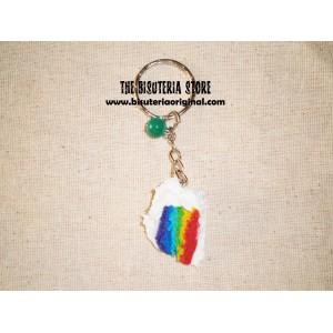 Llavero pastel multicolor