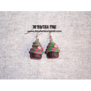 Cupcake verde y rosa fruta de la pasión