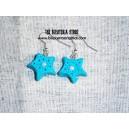 Pendientes estrellas azules
