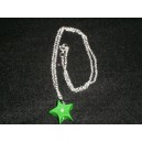Collar estrella verde